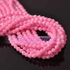 Wholesale Faceted Bicone Crystal Glass Loose Spacer Beads Charms Findings 4mm