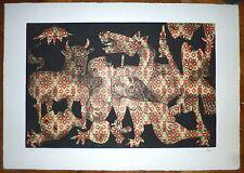 Baj Enrico Gravure originale Signée Hommage à Picasso art abstrait Abstraction