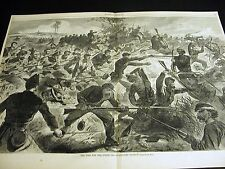 Winslow Homer WAR FOR UNION BAYONET CHARGE 1862 Lg Civil War Engraving w STORY