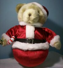 "Cherished Teddies  2001 Roly Poly Santa 12"" plush #873446"