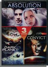 Absolution, Dark Planet, Convict 762 - 3 Sci-Fi Movies on DVD! New!