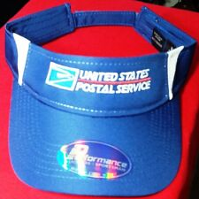 USPS Postal NEW NAVY Two-Tone Visor Cap FULL 2 COLOR USPS Embroidered On Front