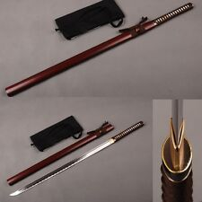 NINJA Japanese KATANA Straight Sword 1060 Carbon Steel Real Sharp Blade HOT!!