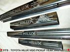 4Doors Sill Stainless Scuff Plate For Toyota Hilux Vigo MK6 SR5 Pickup 2005-2012