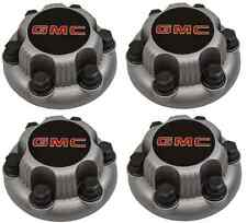 "Set of 4 MATTE GMC Sierra Yukon  Savana 6 Lug 1500 Center Caps 16""  17"" Wheels"
