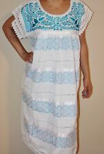 Oaxaca Mexican Tunic Dress Huipil 100% Cotton Back Strap Loom Telar Large