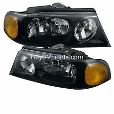 JAYCO FIRENZA 2003 2004 2005 PAIR BLACK HEADLIGHTS HEAD LIGHTS FRONT LAMPS RV