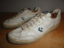 Men's 80's Vtg White Leather CONVERSE JIMMY CONNORS Low Tennis Sneakers Sz-10.5