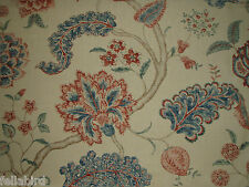 "SANDERSON CURTAIN FABRIC DESIGN  ""Palampore"" 3.7 METRES ANTIQUE 100% LINEN"