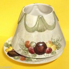 Yankee Candle SUGARED PLUMS Large Jar Candle SHADE & PLATE fits 22 oz Candles
