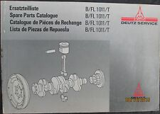 KHD DEUTZ  B/FL 1011/T  Diesel Engines Spare Parts Catalog Manual Original 1989