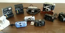 cameras KODAK MAMIYA  NIKKON NIPPON  POLAROID  FLASH INSTIANT 35 MM camera lot