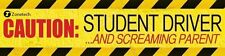 Zone Tech Magnetic Bumper Caution Student Driver and Screaming Parent Car Magnet