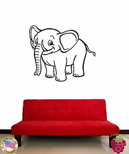 Wall Sticker Smiling Baby Elephant Cool Decor For Living Room z1425