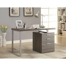 Coaster Furniture 800520 Desks Writing Desk with File Drawer, Weathered Grey