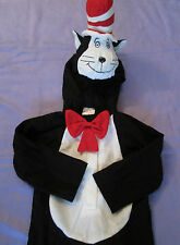 CHILDS DR SEUSS CAT IN THE HAT FANCY DRESS DRESS UP OUTFIT ONESIE AGE 3 - 5 YRS