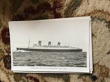 T2-1 postcard unused r m s queen mary cunard