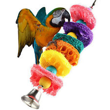 BIRD TOY parrot cage toys cage cockatoo conure Loofah Sponge Chew Play Non-toxic
