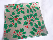 50 Christmas Foil Square Wrappers for Chocolate & Sweets 80mmx80mm.Silver &Gold