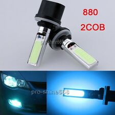 2x 880 892 893 899 LED Fog Lamps Ice Blue COB Driving Light Running Bulb FIT Kia