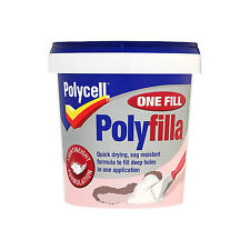 POLYCELL DIY ONE FILL WHITE READY MIXED  POLYFILLA 600ML