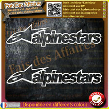 2 stickers autocollant alpinestars carenage reservoir moto casque