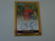 2012 Bowman Chrome RC Auto Trevor May Gold Refra  #25/50