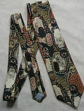 JOSE PISCADOR VINTAGE WIDE TIE RETRO 1970S 1980s MADE IN BELGIUM PATTERNED
