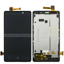 Black Nokia Lumia 820 LCD Display Touch Screen Digitizer Glass Assembly Frame