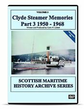 DVD Clyde Steamer Memories 1950-1968 Part 3 of 3 Scottish Paddle Maritime video
