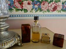 VTG 1971 Coty Emeraude 2 Oz Parfum de Toilette Tortoise Canister Refill 50% Full