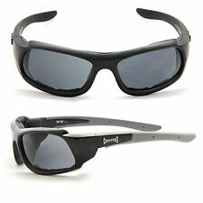 Choppers Motorcycle Riding Glasses Foam Padded Sunglasses - Smoke Lens C48