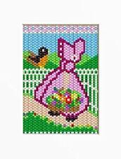 Spring Sunbonnet Girl Beaded Banner Pattern