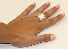 eli k STERLING SILVER 925 PLATE WIDE COIL CONTINUOUS UNISEX BAND RING sz 10