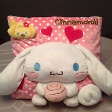 *BIG!* Sanrio Cinnamoroll Pink PLUSH CUSHION White Long Ears Puppy Dog Rare GIFT