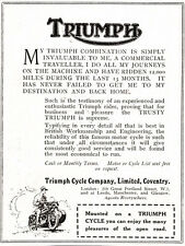 1922 Triumph Cycle Company clipping ad - ...Pleasures of the Open Road