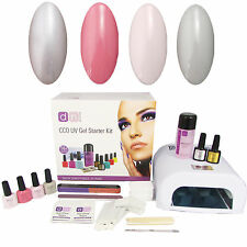 Pretty Pastels 4 Colour UV Nail Gel Polish Starter Kit Set with 36W Lamp CCO