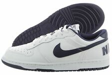 NIKE Big Nike Low Leather Basketball Casual Shoes 355152 White Navy Mens Size 9
