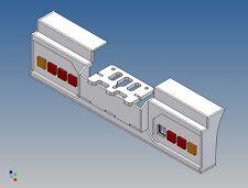 HS2L4 - Heckstoßstange für TAMIYA LKW 1:14 2-Achser für 2x4 3mm LEDs