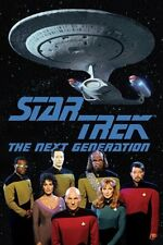 Star Trek: The Next Generation Enterprise and Cast Group 24 x 36 Poster, ROLLED