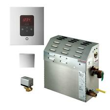 Mr Steam 5kW Steam Bath Generator with iTempo AutoFlush Square Package in Chrome