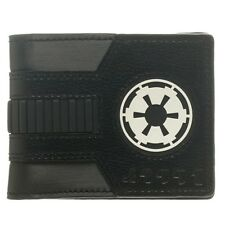 Official Star Wars Galactic Empire Black White Bi-Fold Wallet - Darth Vader New