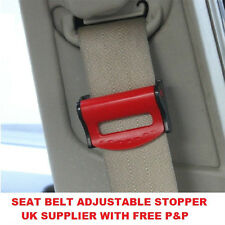 RED PEUGEOT SEAT ADJUSTABLE SAFETY BELT STOPPER CLIP CAR TRAVEL 2PCS