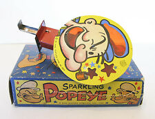 "J. Chein /  ""SPARKLING POPEYE""  / SRARKER TOY / LITHO TIN / MINT + BOXED"