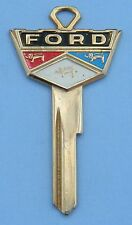 Ford Vintage Gold Wide Crest Key Blank