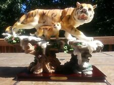 "18"" L Chinese Lucky Double Tiger Statue Wealth Figurine Gift & Home Decor"
