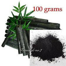100g Activated Bamboo Charcoal Powder Absorb Toxin Vegetable Wash Food Carbon
