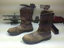 RED WING OIL RIG DISTRESSSED BROWN LEATHER ENGINEER STEEL TOE WORK BOOTS 11 E