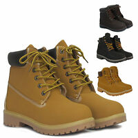 Ladies Ankle Womens Lace Up Boots Trainers Grip Sole Shoes Size UK 3 4 5 6 7 8