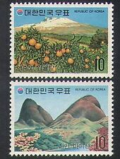 Korea 1973 Tourism/Mountain/Tangerine Trees/Fruit/Plants/Nature 2v set (n37037)